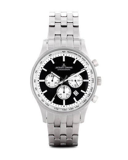 Chronograph London 1-1735F JACQUES LEMANS schwarz,silber 4040662111870