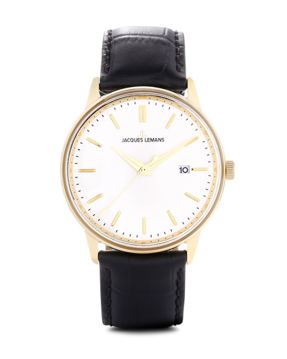 Quarzuhr Retro Classic N-213B JACQUES LEMANS gold,schwarz 4040662120445