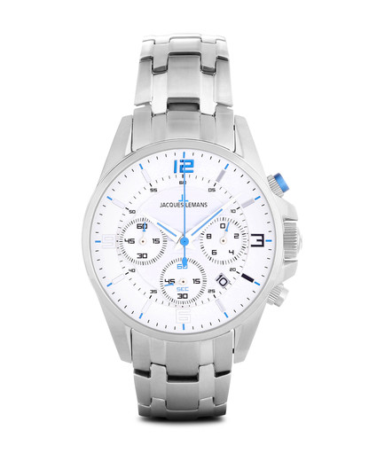 Chronograph LIVERPOOL 1-1672M JACQUES LEMANS weiß 4040662118183