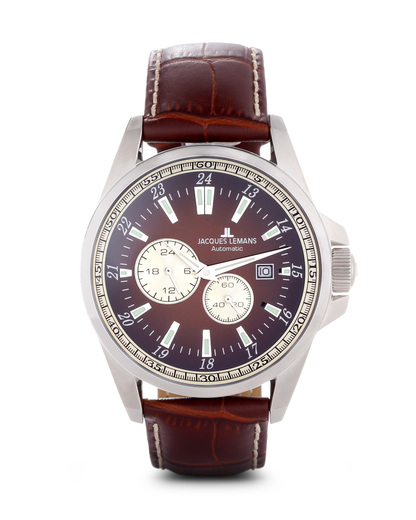 Chronograph Liverpool Automatic 1-1774C JACQUES LEMANS braun 4040662116745