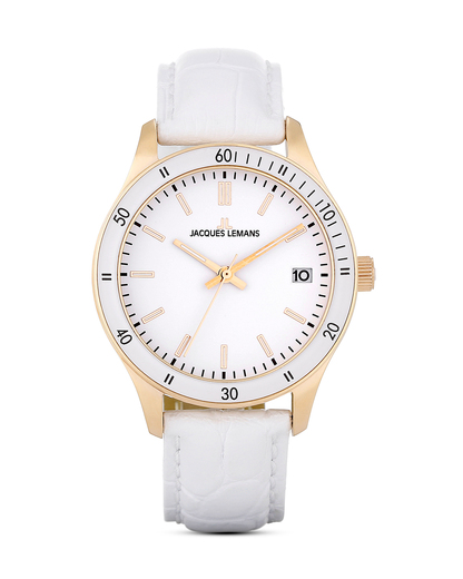 Quarzuhr Rome Sports 1-1623ZC JACQUES LEMANS weiß 4040662124078
