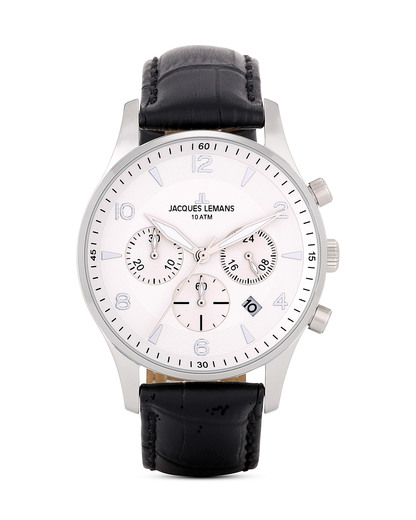 Chronograph London 1-1654B JACQUES LEMANS schwarz,silber 4040662116479