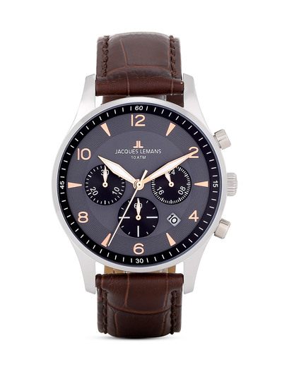Chronograph London 1-1654F JACQUES LEMANS braun 4040662116516