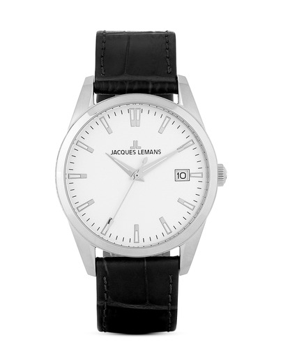 Quarzuhr Liverpool 1-1769D JACQUES LEMANS schwarz 4040662114604