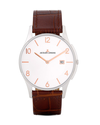 Quarzuhr London 1-1777L JACQUES LEMANS braun 4040662115953