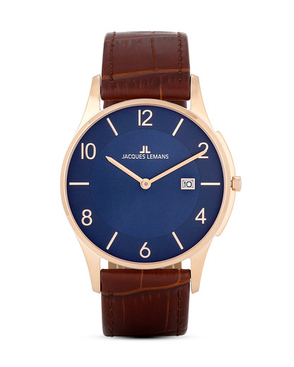 Quarzuhr London 1-1777U JACQUES LEMANS braun 4040662121350