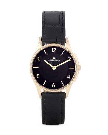 Quarzuhr 1-1778O JACQUES LEMANS gold,schwarz 4040662115779