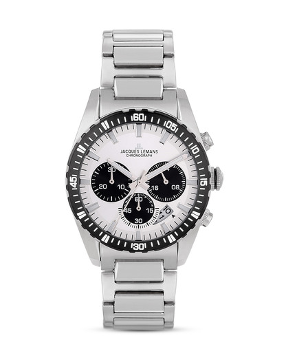 Chronograph Montreal 1-1801H JACQUES LEMANS schwarz,silber 4040662120605