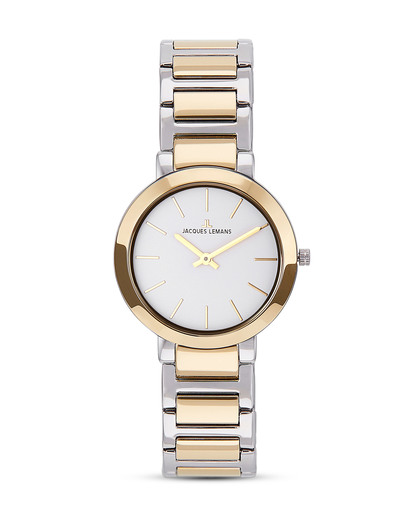 Quarzuhr Milano 1-1842D JACQUES LEMANS gold,silber 4040662122685
