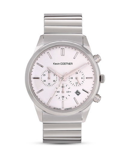 Chronograph Kevin Costner KC-103D JACQUES LEMANS silber,weiß 4040662123255