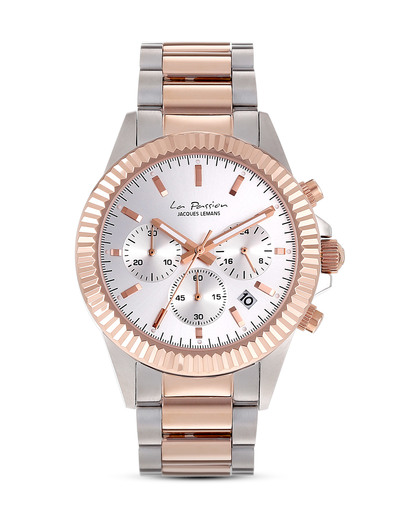 Chronograph La Passion LP-111H JACQUES LEMANS roségold,silber 4040662125426