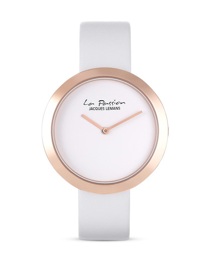 Quarzuhr La Passion LP-113C JACQUES LEMANS roségold,weiß 4040662125563