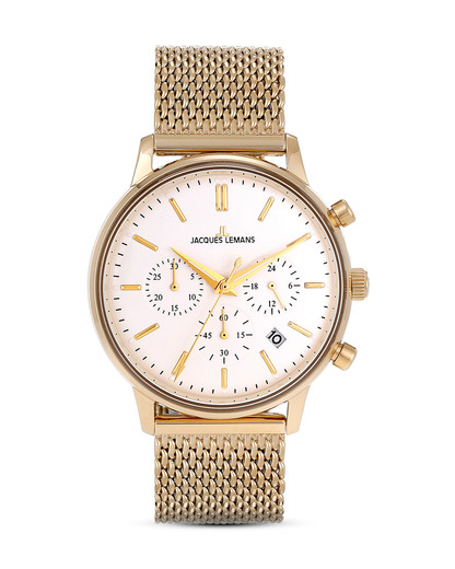 Chronograph Retro Classic N-209L JACQUES LEMANS gold,weiß 4040662126522