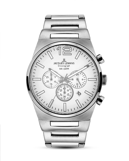 Chronograph Nevada 1-1287B JACQUES LEMANS silber 4040662128168