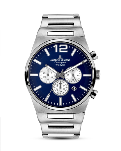 Chronograph Nevada 1-1287C JACQUES LEMANS blau,silber 4040662128175