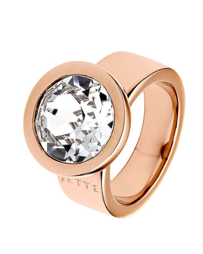 Ring aus Metall mit Kristall JETTE Magic Passion Rosa