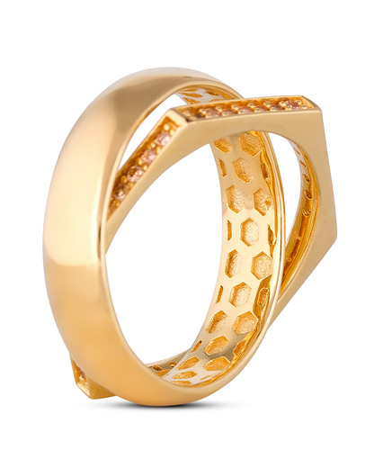 Ring Edged 925 Sterling Silber JOOP! gold Zirkonia