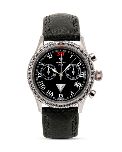 Chronograph Ronda 65852 Junkers schwarz,silber 4041338658521