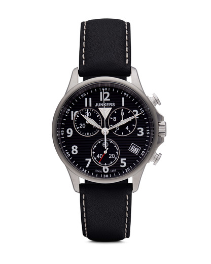 Chronograph Tante Ju 68902 Junkers schwarz,silber 4041338689020