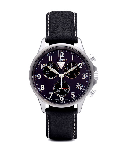 Chronograph Mount Everest 6894-3 Junkers blau,silber 4041338689433