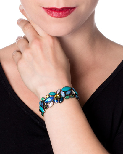 Armband Dance with Navette Messing KONPLOTT blau Swarovski-Stein 5450543103631
