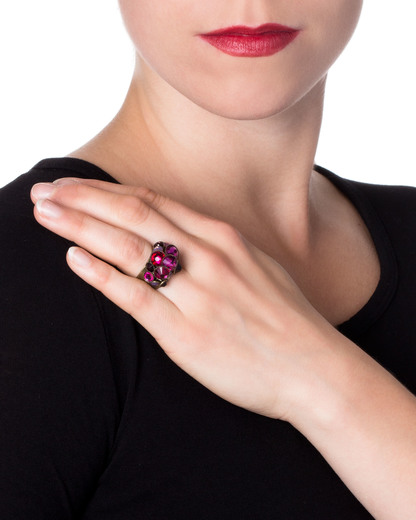 Ring Waterfalls Messing KONPLOTT pink Swarovski-Stein 5450543128726