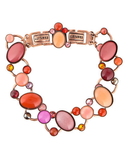 Armband Alien Caviar orange-pink KONPLOTT orange,pink Glas 5450543210476