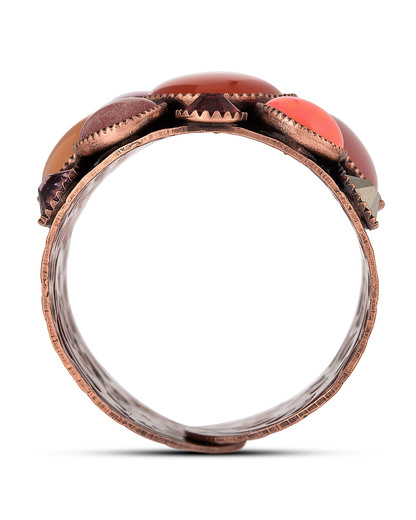 Ring Alien Caviar orange-bunt KONPLOTT mehrfarbig,orange,pink Glas 5450543208442