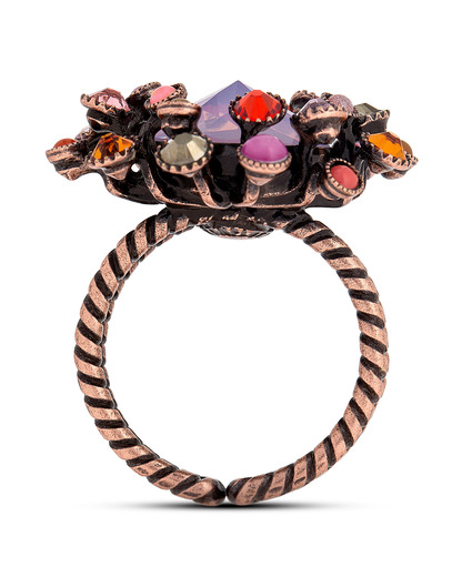 Ring Alien Caviar pink-orange KONPLOTT orange,pink Glas 5450543212197
