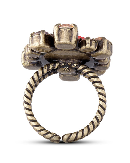 Ring Liam Messing KONPLOTT braun,rot Glas 5450543246796