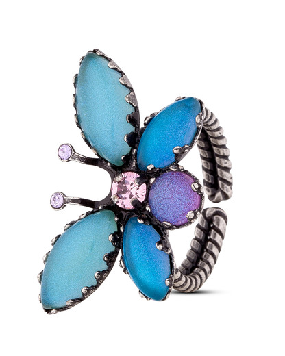 Ring Fly Butterfly Messing KONPLOTT 5450543260402