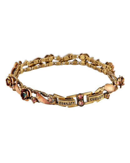 Armband In Honor of the Rose aus Messing KONPLOTT braun Glas 5450543274423