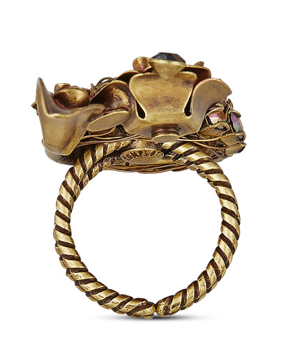 Ring In Honor of the Rose aus Messing KONPLOTT gold,grün Glas 5450543236247