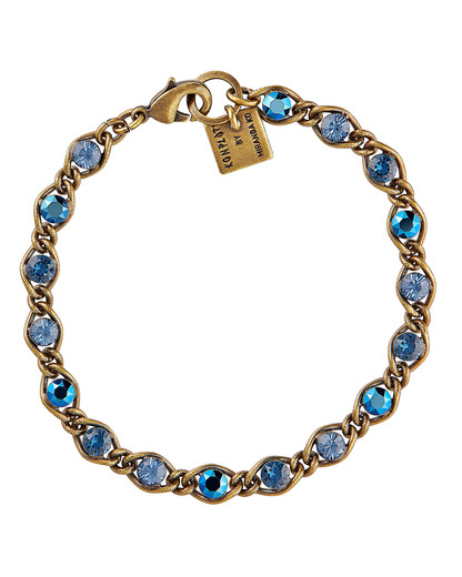 Armband Magic Fireball aus Messing KONPLOTT blau,braun Glas 5450543247915