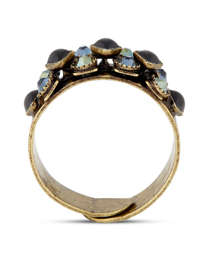 Ring Arabic Nights Messing KONPLOTT braun,grün,schwarz Swarovski-Stein 5450543270357