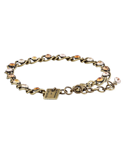 Armband Magic Fireball mit Swarovski-Steinen KONPLOTT braun,gold,orange Swarovski-Stein 5450543302706