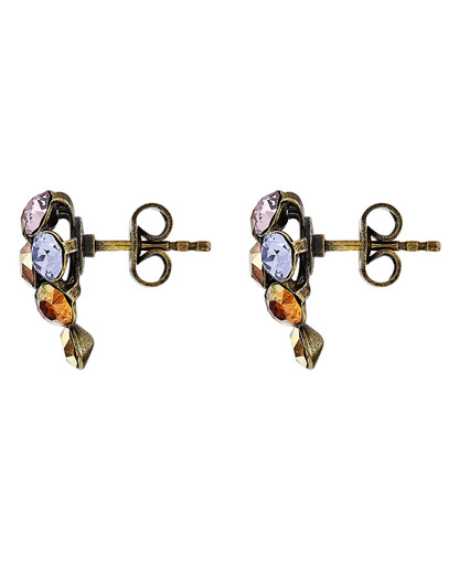 Ohrstecker Magic Fireball mit Swarovski-Steinen KONPLOTT gold,orange,violett Swarovski-Stein 5450543301631