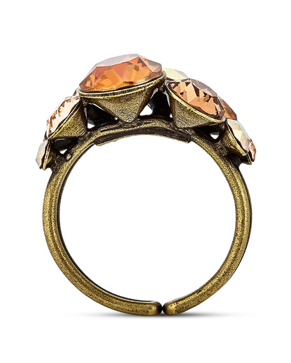 Ring Petit Glamour aus Messing KONPLOTT gold,orange Glas 5450543302195