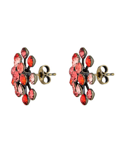 Ohrstecker Magic Fireball mit Swarovski-Steinen KONPLOTT gold,orange,rot Swarovski-Stein 5450543301693