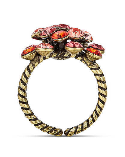 Ring Magic Fireball mit Swarovski-Steinen KONPLOTT gold,orange,rot Swarovski-Stein 5450543301716