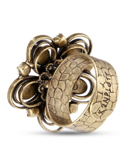 Ring Boho Twist KONPLOTT gold,weiß Glas 5450543712796