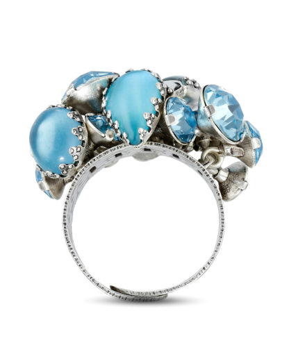 Ring Jelly Star KONPLOTT blau,silber Glas 5450543714387