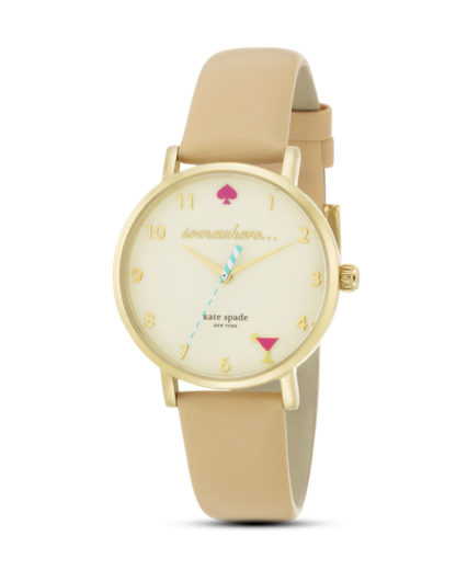 Quarzuhr Metro 1YRU0484 kate spade new york beige,gold 4053858544888