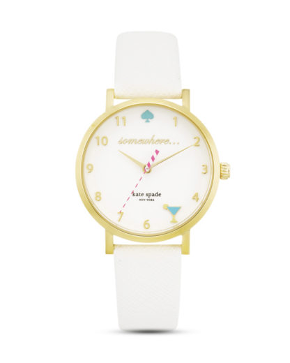 Quarzuhr Metro 1YRU0765 kate spade new york gold,weiß 4053858546288
