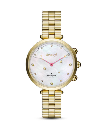 Hybrid-Smartwatch Holland KST23200 kate spade new york connected gold,weiß 4053858916517
