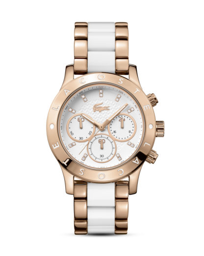 Chronograph Charlotte 2000911 Lacoste roségold,weiß 7613272191401
