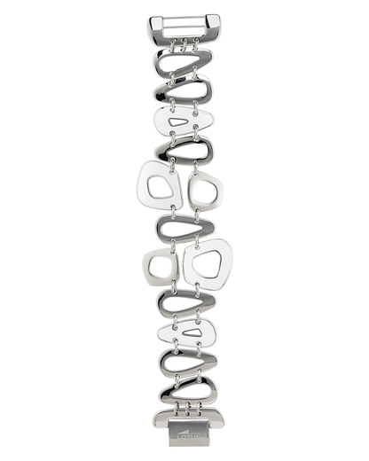 Armband Edelstahl Lotus Style silber,weiß Glas 8430622474064