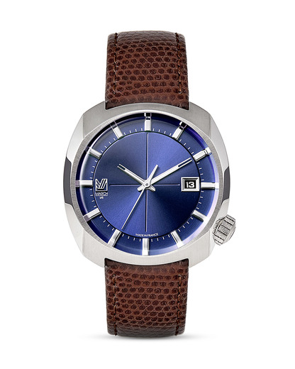 Quarzuhr AM1-STERLING-L MARCH LA.B blau,braun,silber 3760248810164