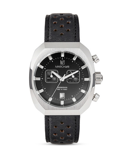 Chronograph AM3-CHRONO-BLACK-L MARCH LA.B schwarz,silber 3760248810522