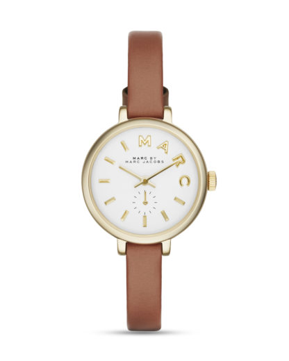 Quarzuhr Sally MBM1351 MARC JACOBS braun,gold,weiß 4053858430235